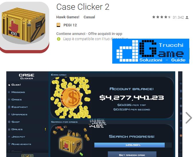 Trucchi Case Clicker 2 Mod Apk Android v2.0.2