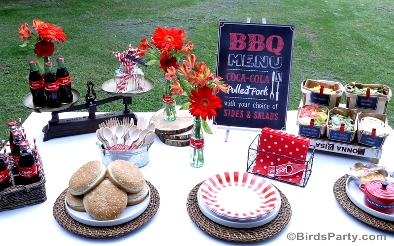 BBQ Party Tablescape #ShareaCokeContest