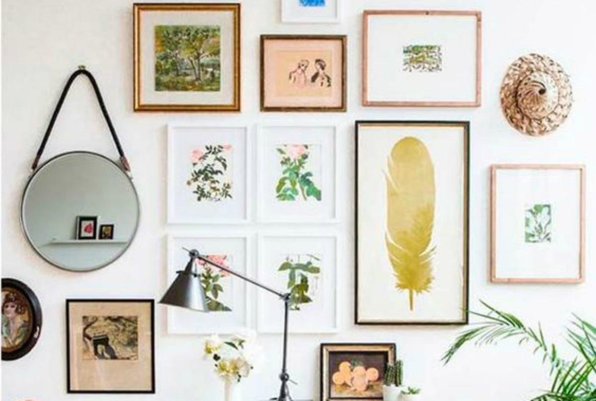 Decorar paredes c mo crear una galer a e imprimibles - Laminas para decorar paredes ...