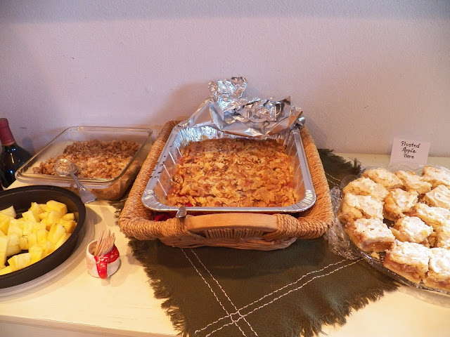 Fruit Desserts, Apple Crisp, Apple bars, Cherry Cobbler, Pineapple