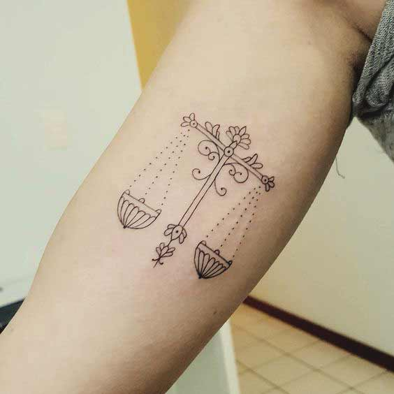 best libra tattoos on arm fro boys