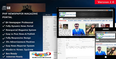 SH PHP Newspaper Script & News Magazine WordPress Theme with demo by Ariyan 420
