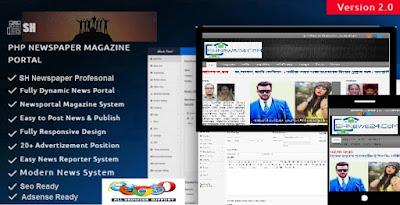 SH PHP Newspaper Script & News Magazine WordPress Theme with demo by Ariyan 420
