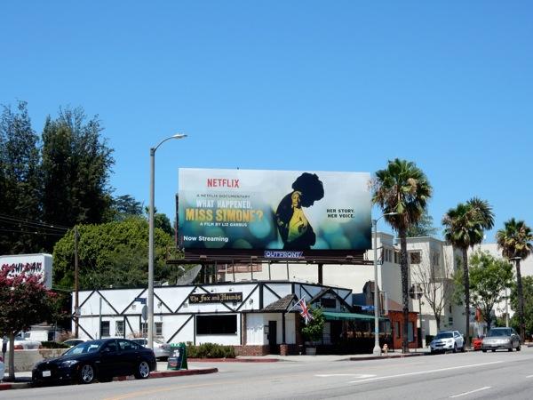 What Happened Miss Simone film billboard