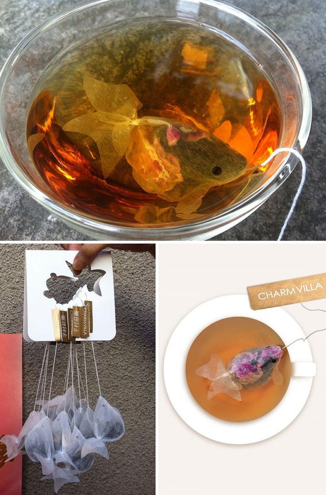 Trà túi lọc hóa thành cá vàng khi gặp nước nóng