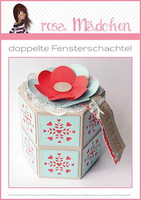 Stampin' Up! rosa Mädchen Kulmbach: Anleitung zur doppelten Fensterschachtel als Download