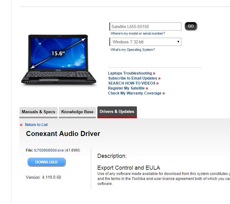 toshiba satellite c640 wireless drivers for windows 7 32 bit