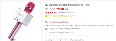 Shopee Q7 Wireless Bluetooth Microphone