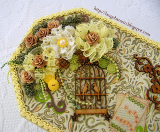 Arranjo floral caixa MDF