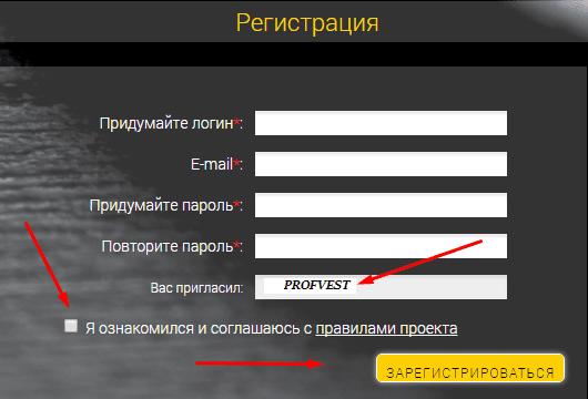 Регистрация в LeoBacker 2