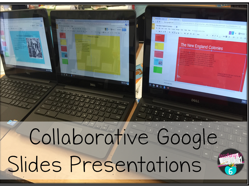 Collaborative Classroom Presentation : Collaborative colonial slides project teaching in room