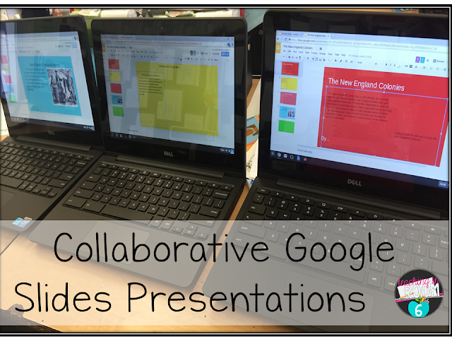 Creating a slide for a collaborative google slides presentation.  21st century learning in a 5th grade classroom.
