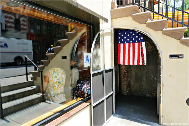 Entrada del Restaurante de Ramén Japonés Ippudo Westside en Nueva York