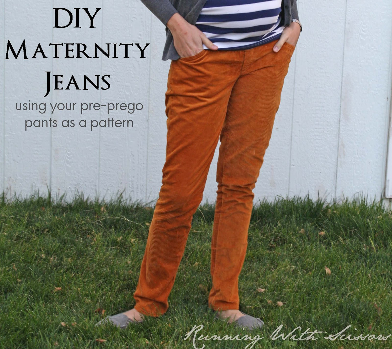 Running With Scissors Tutorial Diy Maternity Jeans From