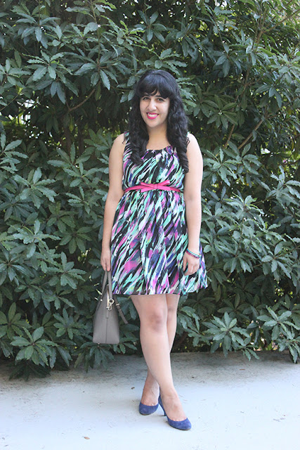 BYER California Brushstroke Print Dress Fall Outfit
