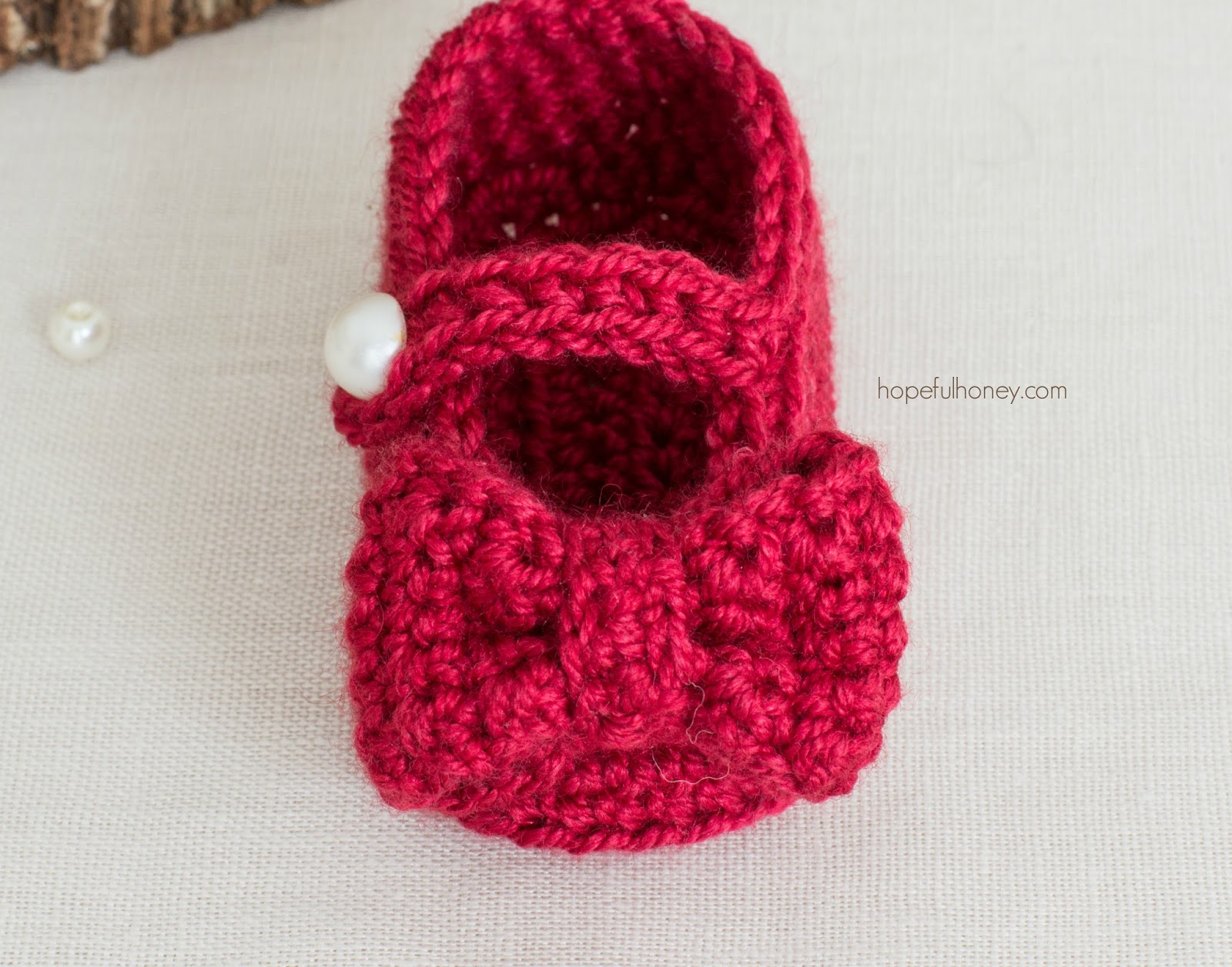 Free Crochet Patterns Mary Jane Booties : Hopeful Honey Craft, Crochet, Create: Ruby Red Mary Jane ...