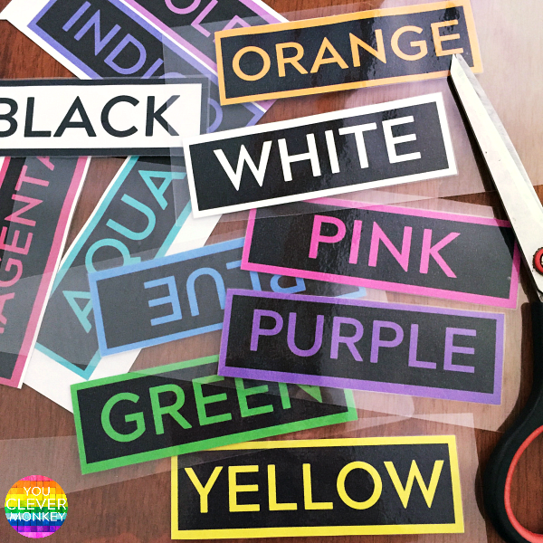 Printable Colour Word Cards | you clever monkey