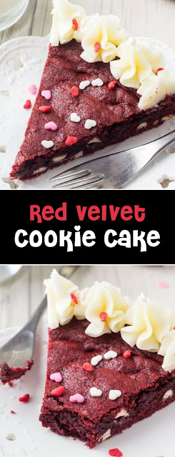 The Best Red Velvet Cookie Cake Recipe