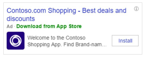 bing ad for app install