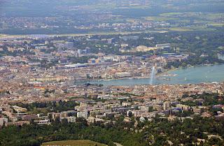 Vue aérienne de Genève