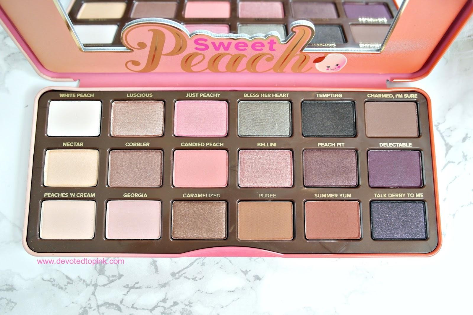 sweet peach palette # 49