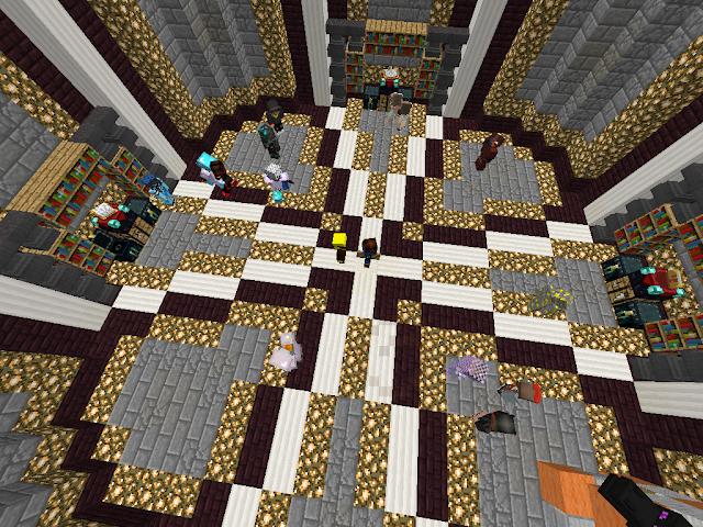 Minecraft drop party.
