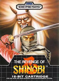 Portada del cartucho de The Revenge of Shinobi para la Megadrive, Sega, 1989