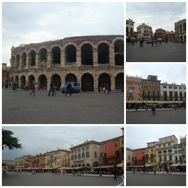 Um dia em Verona - Piazza Brà e Arena de Verona