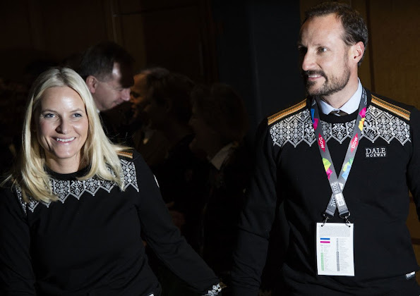 Crown Princess Mette Marit and Crown Prince Haakon of Norway and Princess Ingrid Alexandra and Prince Sverre Magnus attended the opening of the Lillehammer