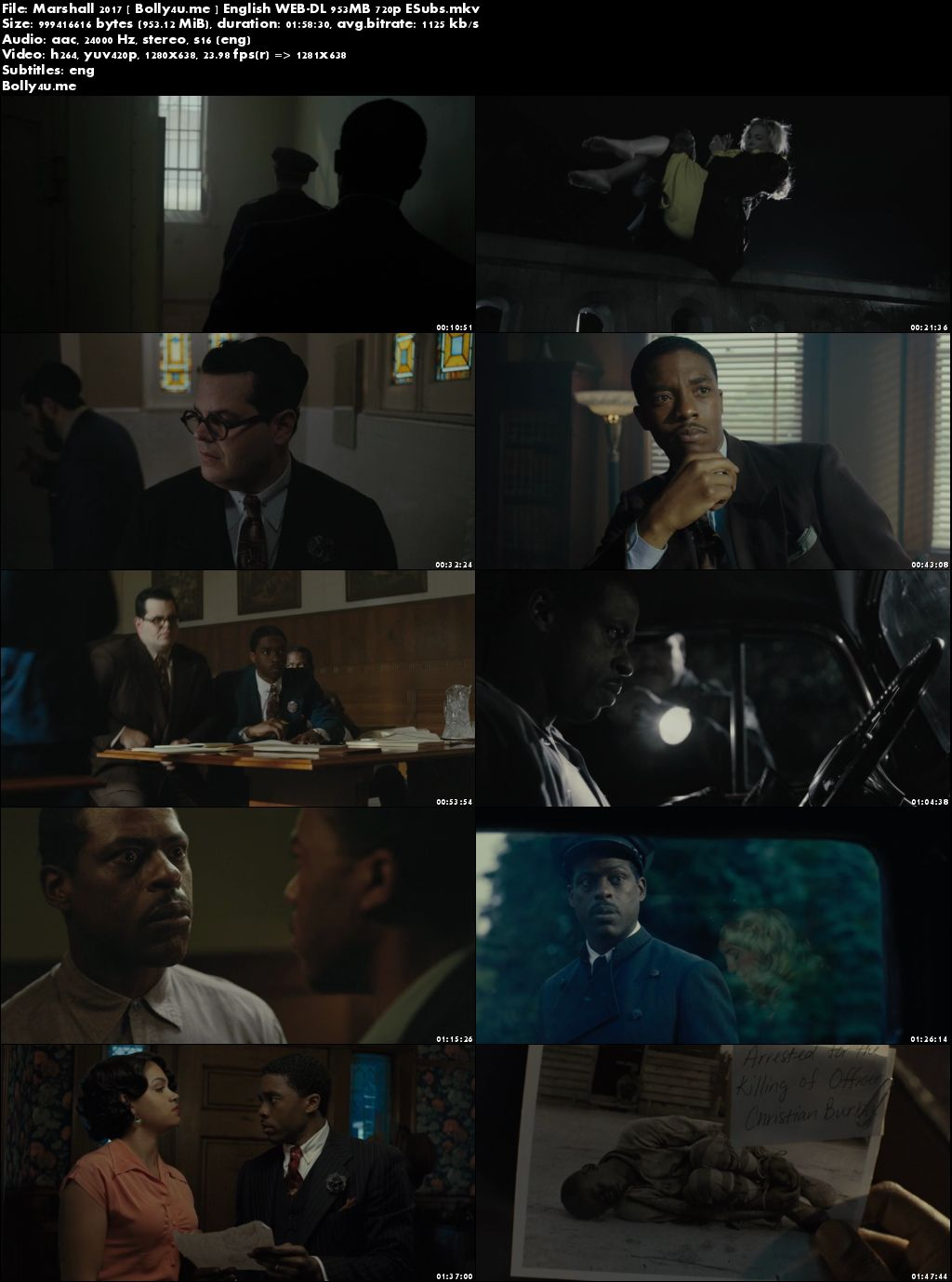 Marshall 2017 WEB-DL 950MB English 720p ESubs Download