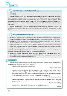 9. Sınıf Türk Dili ve Edebiyatı Ders Kitabı Cevapları Sonuç Yayınları Sayfa 12