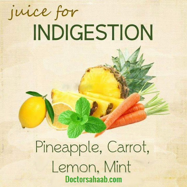 Juice for Indigestion (Pineapple+Carrot+Lemon+Mint)