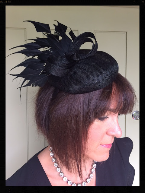 My Midlife Fashion, Accessorize Renee Elaborate Feather Fascinator, Zara Split Top, J Crew