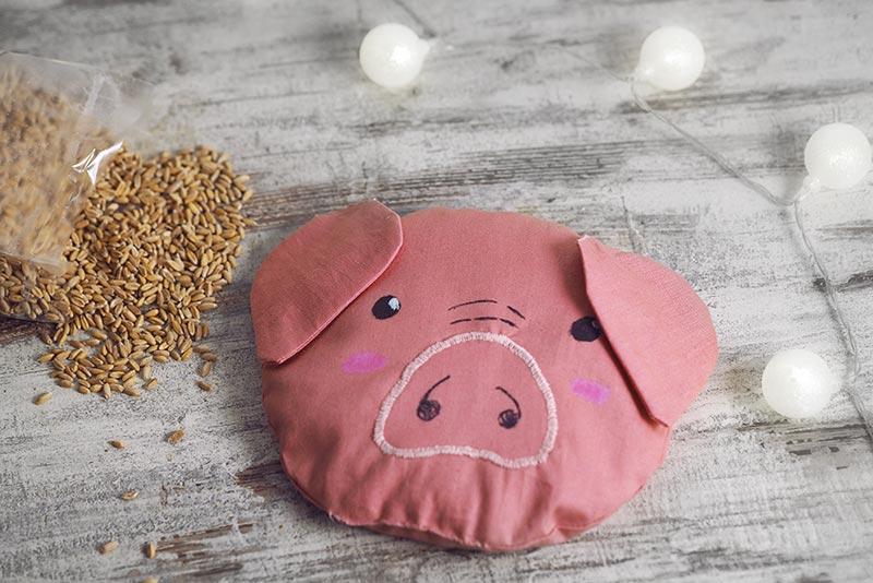 KuneCoco • DIY • Körnerkissen mit Schweinemotiv