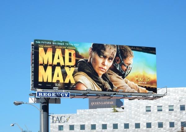 Mad Max Fury Road movie billboard