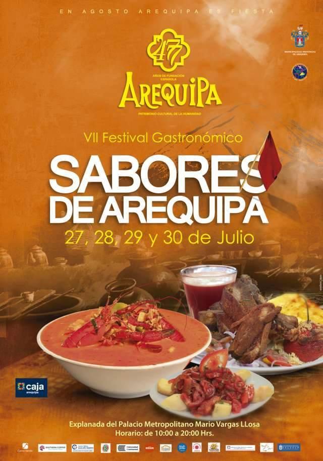 """VII Festival Gastronómico """"Sabores de Arequipa"""" - del 27 al 30 de julio"""
