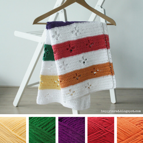 Funky fifties, retro crochet blanket: color inspiration | Happy in Red