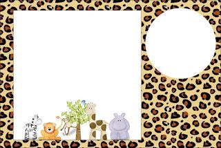 Para hacer invitaciones, tarjetas, marcos de fotos o etiquetas, para imprimir gratis de La Selva de Juguete.