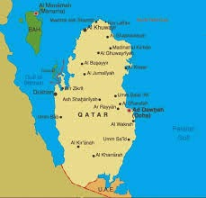Peta Negara Qatar