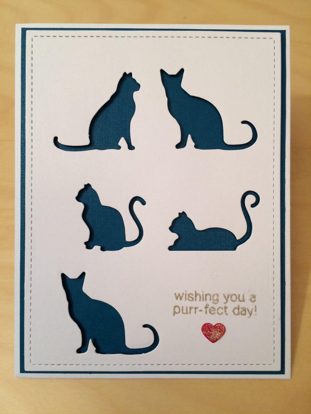 Ned-poppade katter med blå bakgrund
