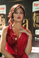 Videesha in Spicy Floor Length Red Sleeveless Gown at IIFA Utsavam Awards 2017  Day 2  Exclusive 30.JPG
