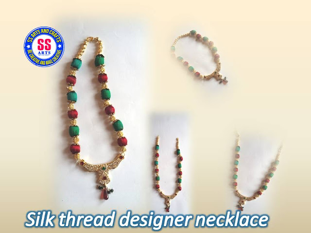 Here is silk thread jewellery making at home,silk thread beads ankletes,silk thread designer anklets,silk thread necklace making at home,silk thread choker making,silk thread stones anklets making tutorial,silk thread bridal designer long necklace making at home