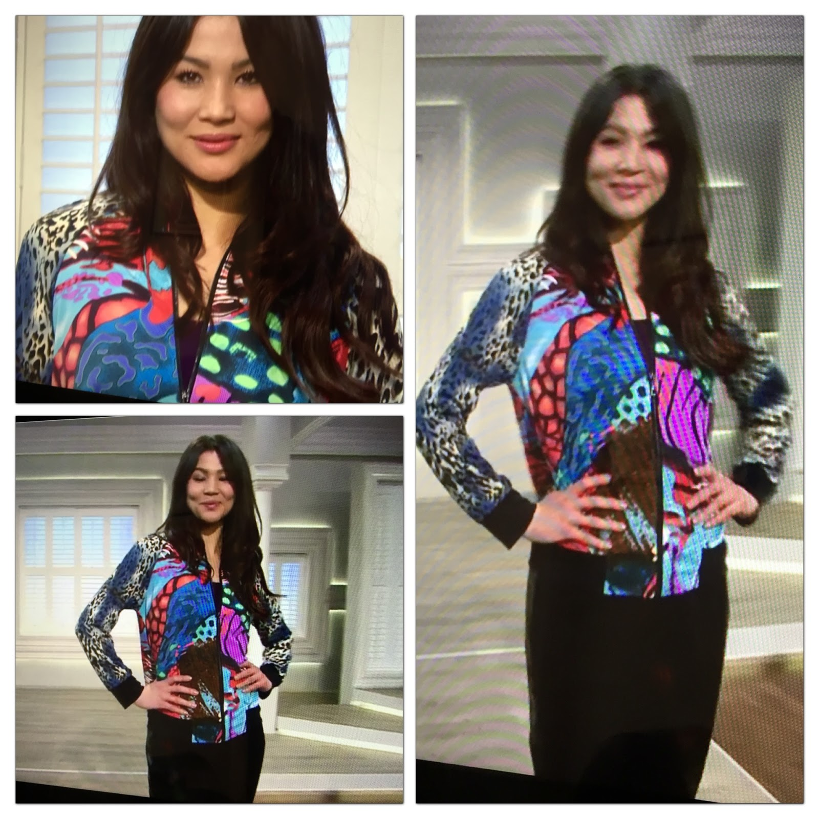 Nv nick verreosqvc uk march 2016 show and photo recap model in nv nick verreos printed knit jersey bombertrack jacket qvc uk ccuart Gallery