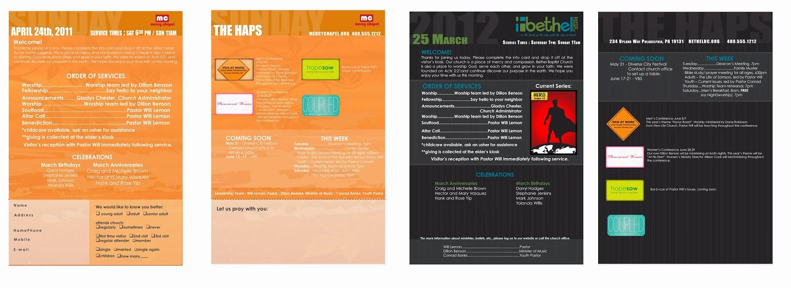 modern church bulletin design will lemon graphic design portfolio