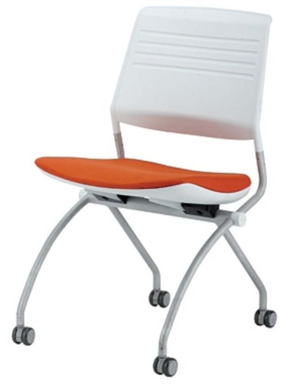 Switch Orange and White Office Chair by Eurotech
