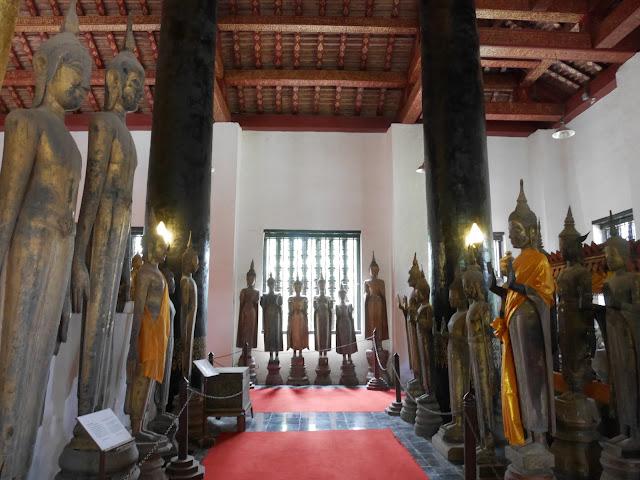 Buddha statue museum at Wat Visoun, Luang Prabang