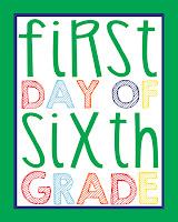 Sixth Grade Printable