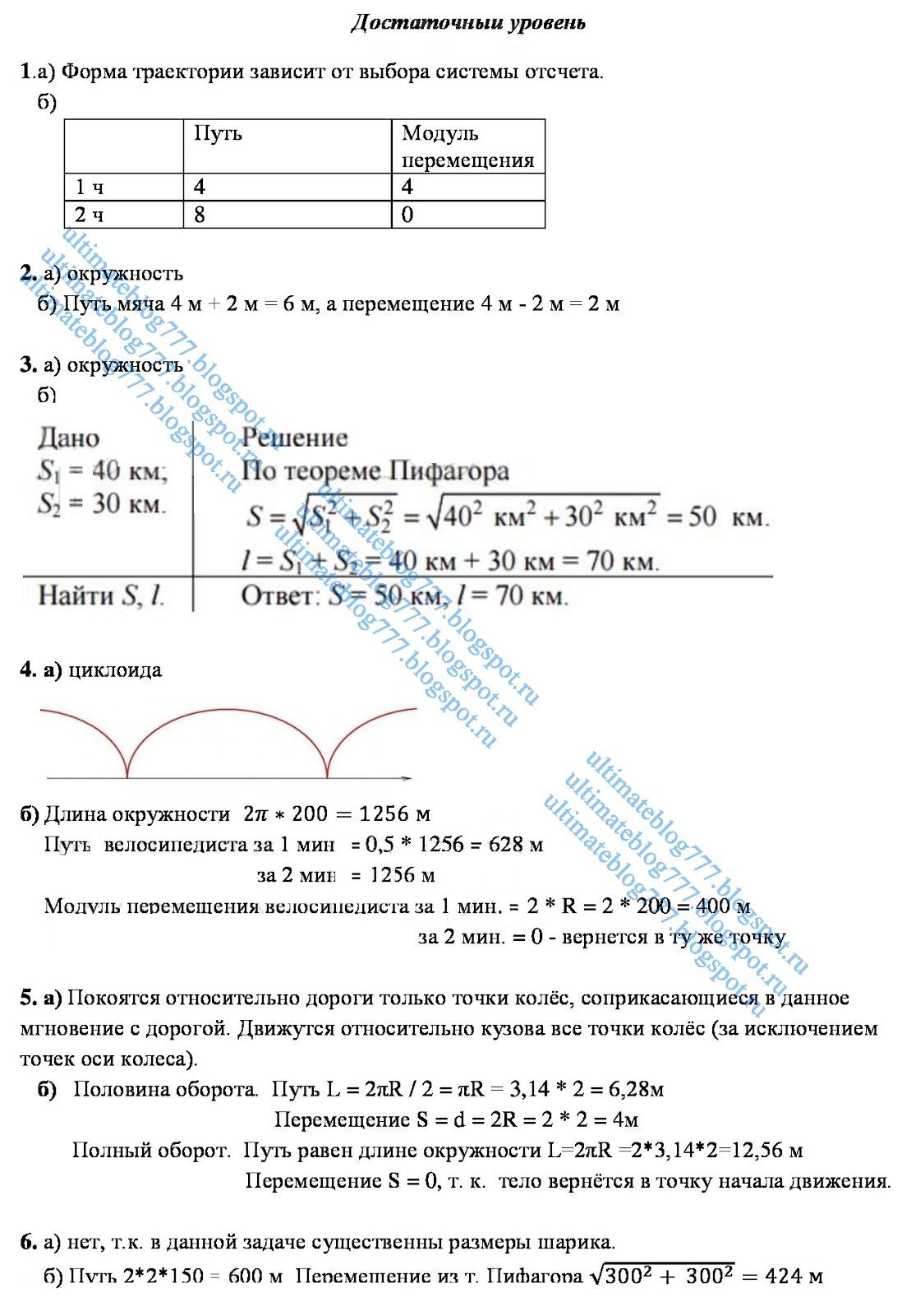 Изобразите схематически траекторию движения точек 998