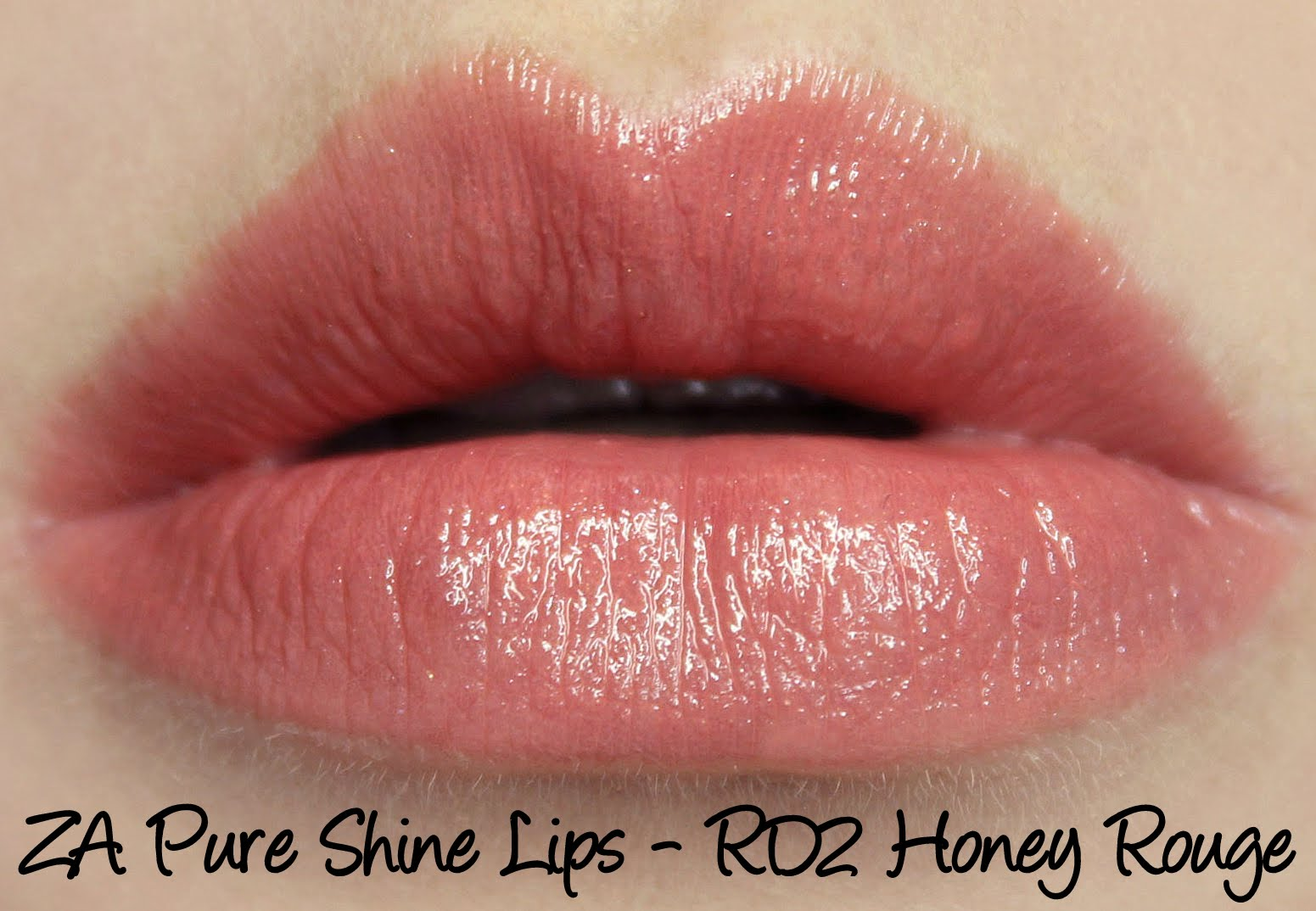 ZA Pure Shine Lips RD2 Honey Rouge lipstick review