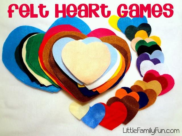http://www.littlefamilyfun.com/2012/02/felt-heart-games.html